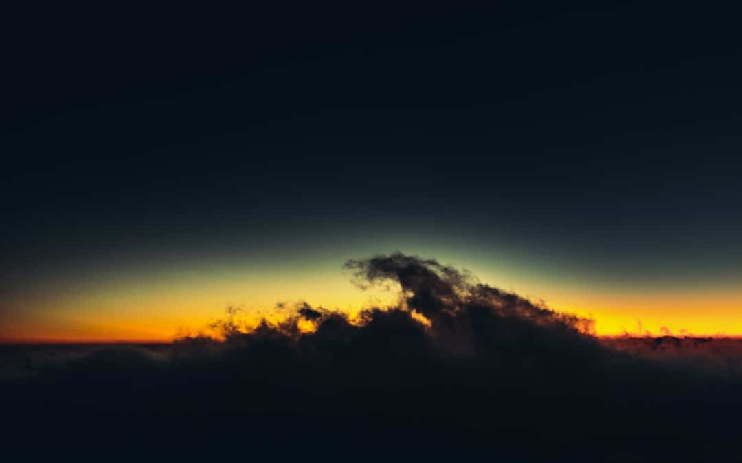 Clouds in front of a sunset